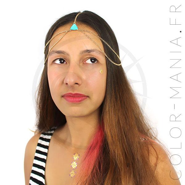Couronne pour Cheveux et Tattoos Métallisés | Color-Mania