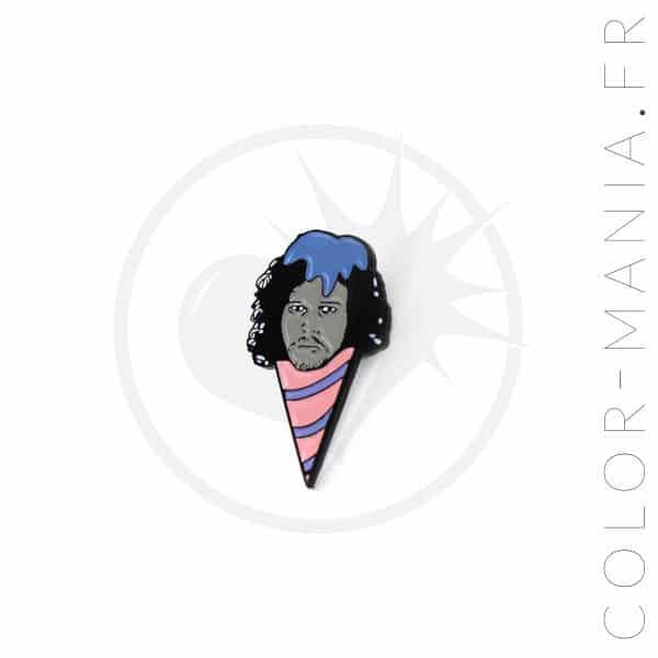 Pin's Jonny Snowcone Rose et Bleu | Color-Mania