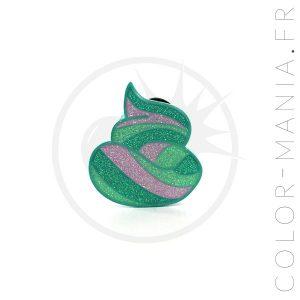 Pin's Caca de Sirène Vert Pailleté | Color-Mania