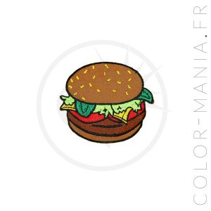 Patch Burger Marron | Color-Mania