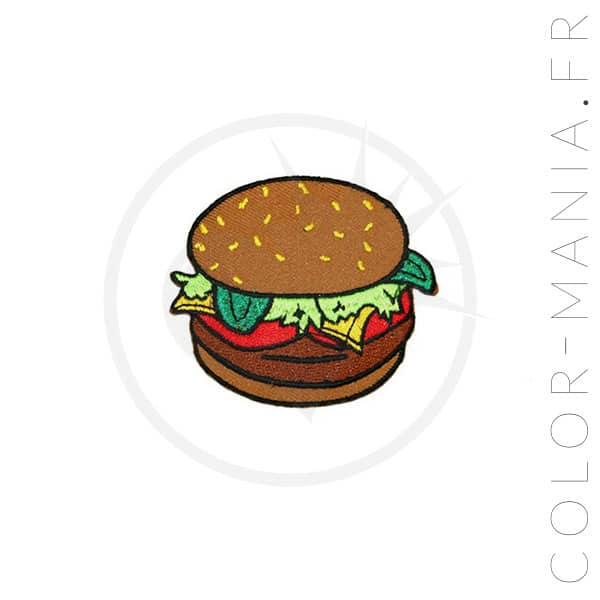 Patch Burger Marron | Color-Mania
