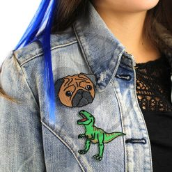 Parche T-Rex y Pug | Color-Mania