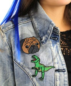 Patch T-Rex et Pug | Color-Mania