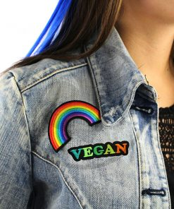 Patch Vegan Vert et Orange | Color-Mania
