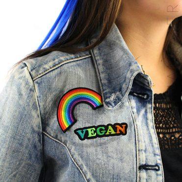 Patch Vegan Vert et Orange | Color-Mania