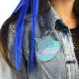 Patch Caca de Sirène Bleu-Vert | Color-Mania