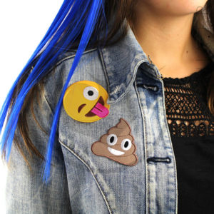 Patch Emoji Caca et Smiley Langue  Color-Mania