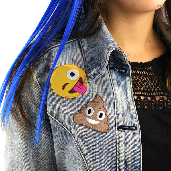 Patch Emoji Caca et Smiley Langue |Color-Mania