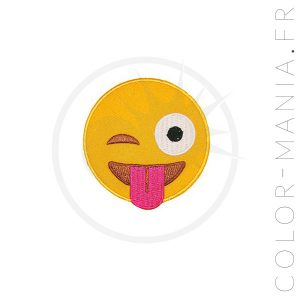 Patch Emoji Smiley Langue | Color-Mania