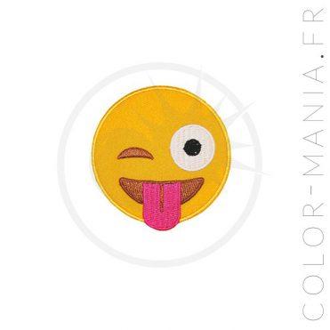 Patch Emoji Smiley Langue | Color-Mania