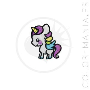 Patch Licorne Blanche | Color-Mania