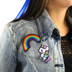 Patch Arc-en-Ciel et Licorne| Color-Mania
