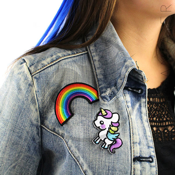 Patch arcobaleno e unicorno | Color-Mania