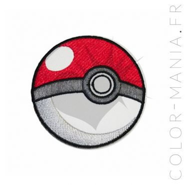 Patch Pokeball Blanc et Rouge   Color-Mania