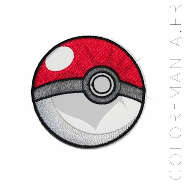 Parche Pokeball blanco y rojo | Color-Mania