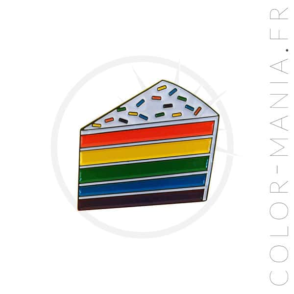 Pin's Gâteau Arc-en-Ciel | Color-Mania