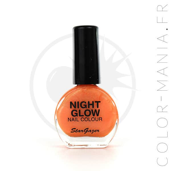Barniz de naranja albaricoque fosforescente en negro | Color-Mania