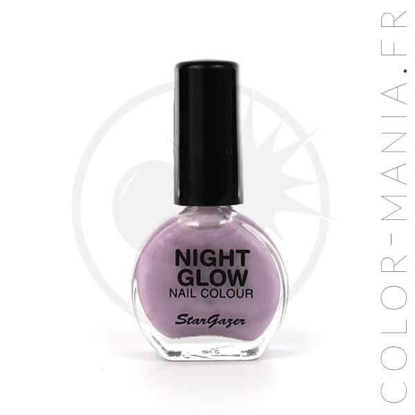 Vernis Violet Lilas Phosphorescent dans le Noir | Color-Mania
