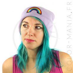 Bonnet Violet Lilas Arc-en-Ciel | Color-Mania