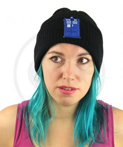 Black Tardis Blue Beanie | Color-Mania