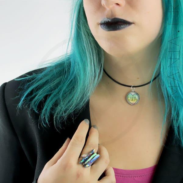 Bague Cristaux Arc-en-Ciel Pétrole - Collier Queer   Color-Mania