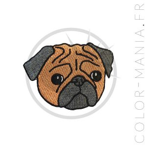 Patch Pug Marron | Color-Mania