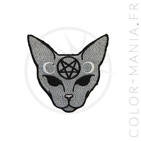 Gray Mystic Cat Patch | Color-Mania