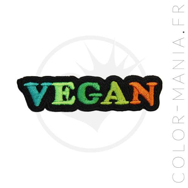 Parche vegano verde y naranja | Color-Mania