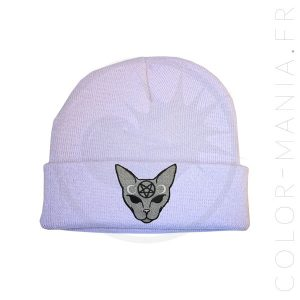 Bonnet Lilas Chat Mystique Gris | Color-Mania