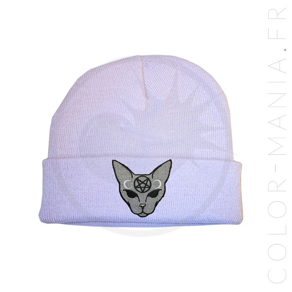 Lila Cat Mystic Gray Hat | Color-Mania