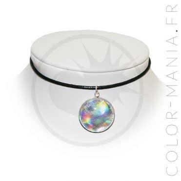 Collier Ras de Cou Holographique Blanc | Color-Mania