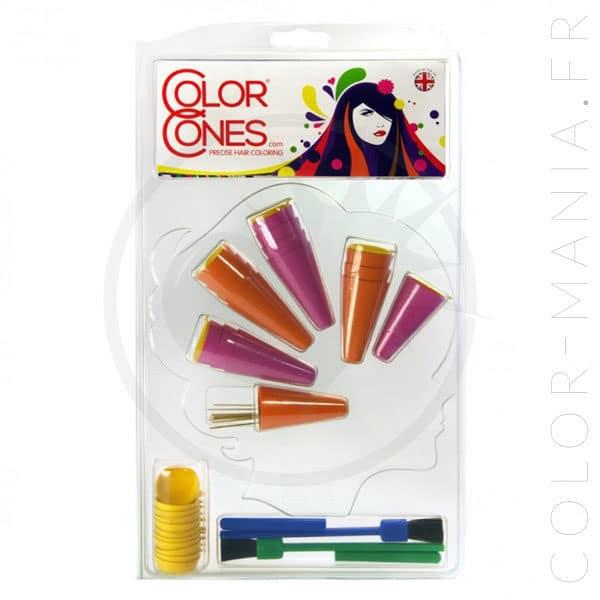 Kit Color Cones Rose-Orange pour Coloration ou Décoloration | Color-Mania