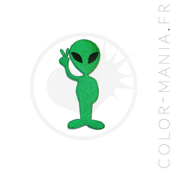 Patch Alien Peace Vert | Color-Mania