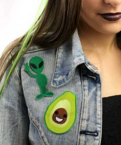 Patch Alien Peace et Happy Avocat | Color-Mania