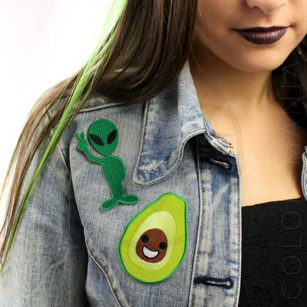 Alien Peace Patch y Happy Avocat | Color-Mania