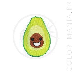 Patch Happy Avocat Vert et Marron | Color-Mania