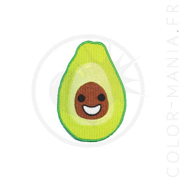 Patch Happy Avocat Vert et Marron | Color-Mania