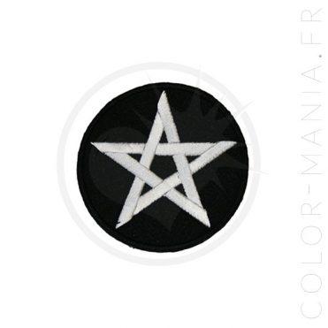 Patch Pentagramme Noir et Blanc | Color-Mania