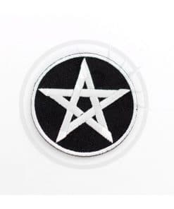 Patch Pentagramme Noir et Blanc | Color-Mania