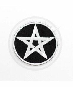 Parche de Pentagram en blanco y negro | Color-Mania