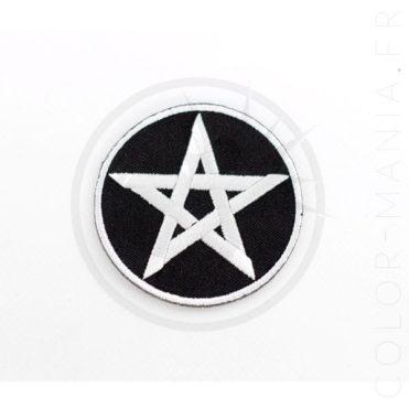 Patch Pentagramme Noir et Blanc   Color-Mania