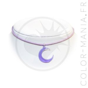 Collier Ras de Cou Lune Lilas | Color-Mania