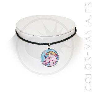 Collier Ras de Cou Licorne Furieuse | Color-Mania