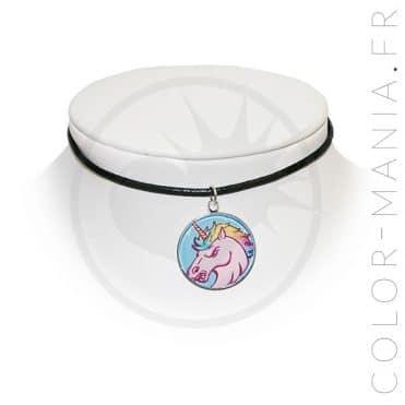 Collier Ras de Cou Licorne Furieuse   Color-Mania
