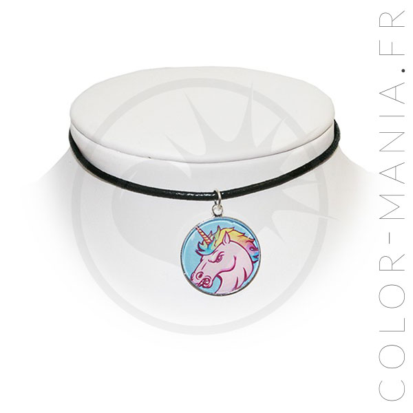 Collier Ras de Cou Licorne Furieuse | Color-Mania