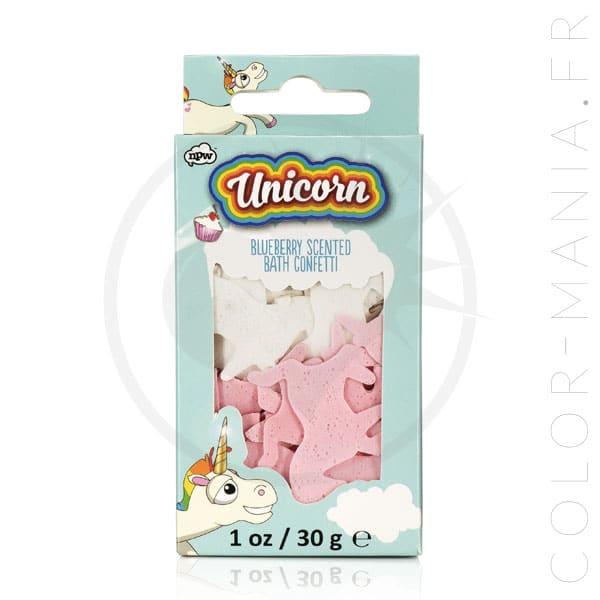 Confettis de Bain Licorne - Parfum Myrtille | Color-Mania