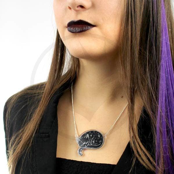 Collier Chat Mystique Noir | Color-Mania