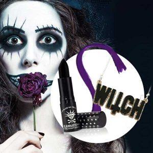 Kit Collier et Make-Up Sorcière Halloween | Color-Mania