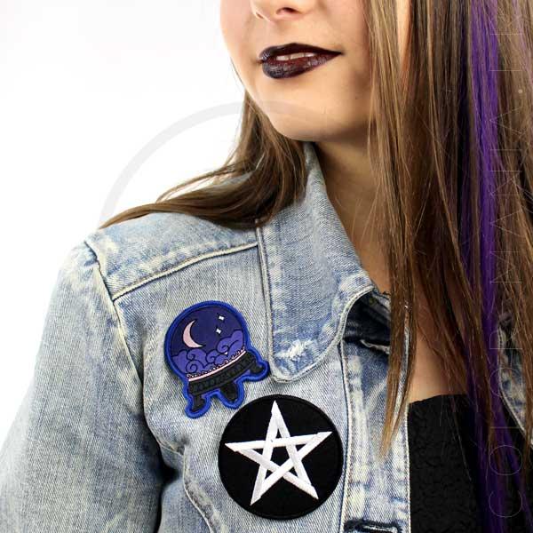Crystal Ball y Pentagram Patch | Color-Mania