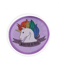 Majestic Unicorn Patch As Fuck Lilac | Color-Mania
